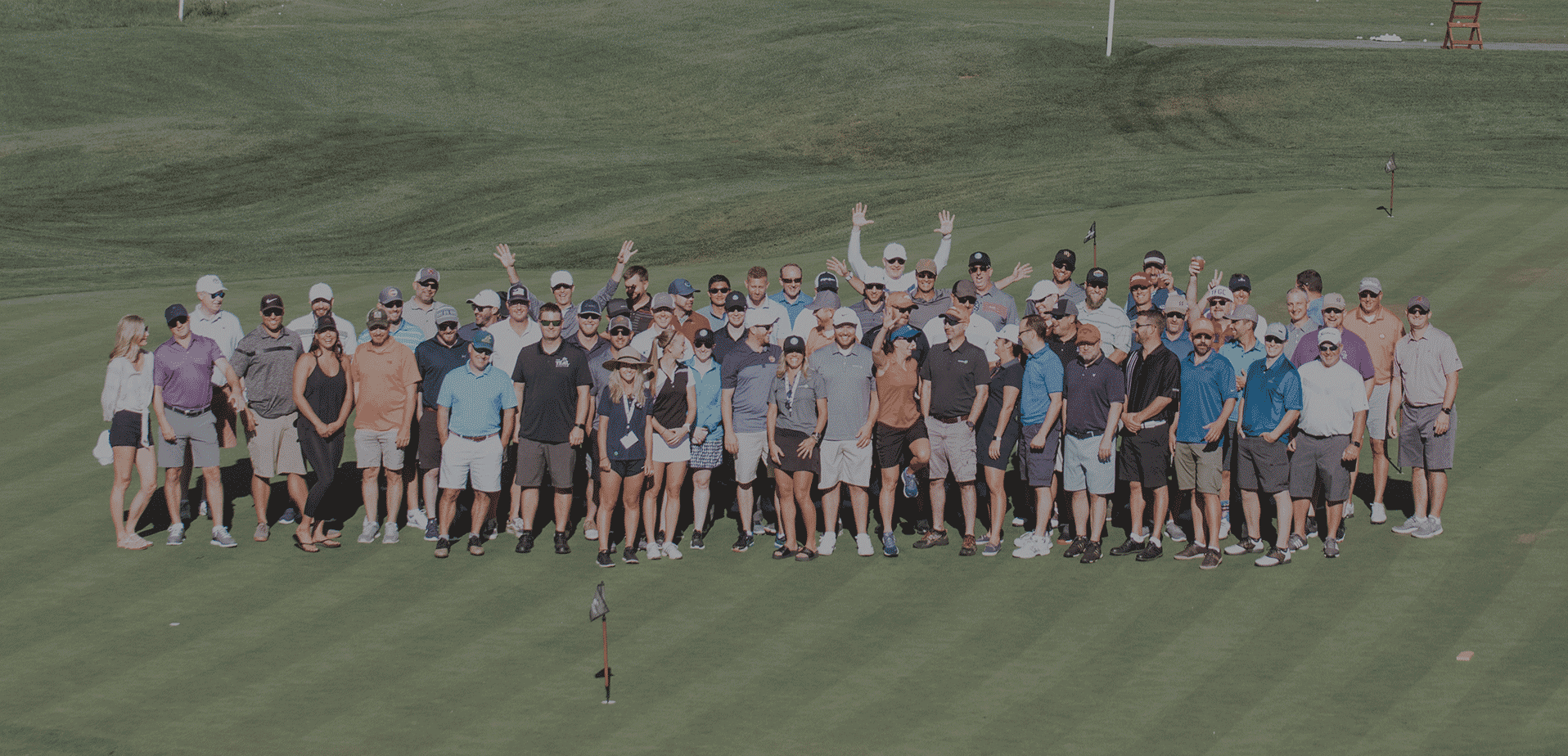 Photo of Colorado BUILT members on golf course at the 2019 Invitational